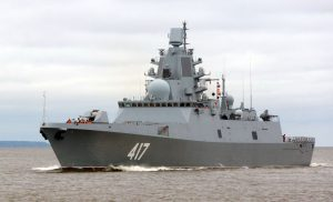The frigate 'Soviet Union Fleet Admiral Gorshkov'