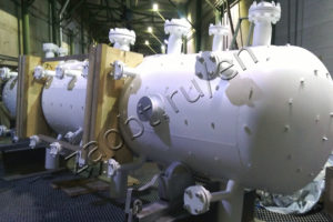Steam separator of afterburning furnace for Bashneft-UNPZ