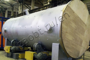 Heat recovery boiler drum of afterburning furnace
