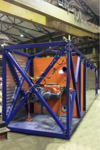 Waste pyrolysis unit for oil fields