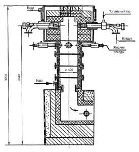 Рис. 2. Циклонный реактор для обезвреживания жидких лекарственных форм