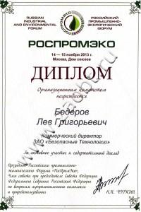 Диплом РОСПРОМЭКО-2013