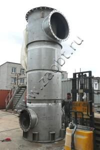 Узел оборудования (газоход) для организации производства титанового коагулянта