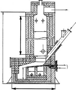 Рис. 3. Реактор с вращающимся кипящим слоем