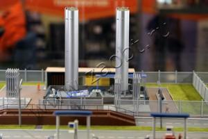 Макет газовой автозаправки на выставке в Экспофоруме