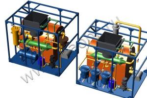 Установка для переработки отходов с получением чистого моторного топлива