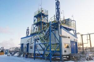 Установка подготовки газа с сероочисткой