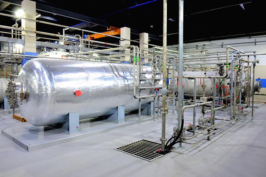 Выпарная установка очистки радиоактивных стоков
